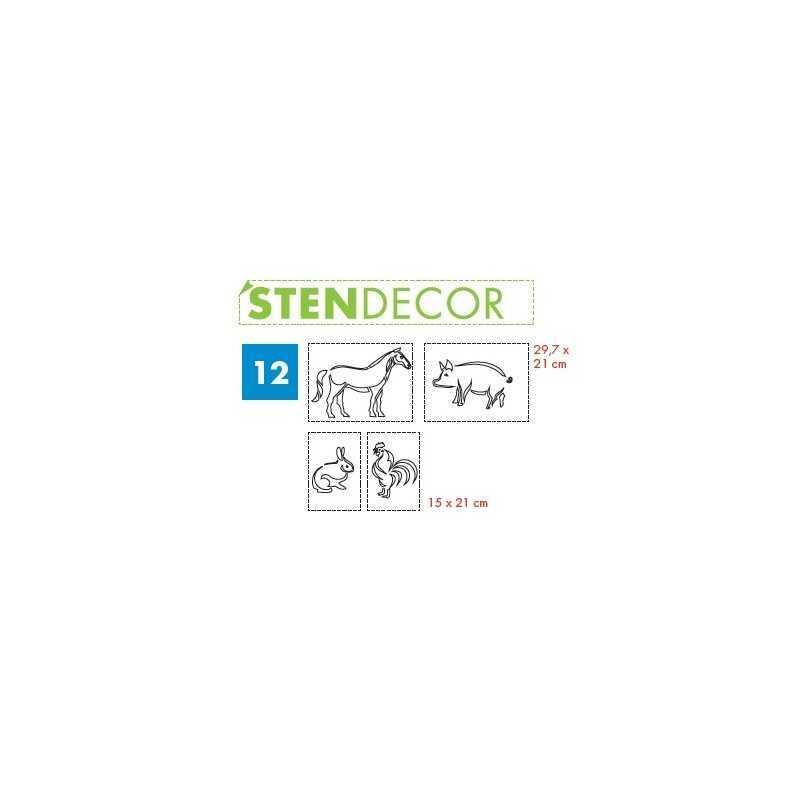 LITOKOL - STENDECOR 12 - SERIE ANIMALI confezione 4pz - a soli 59,80€ su FESEA online - fesea.shop