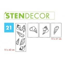 STENDECOR 21 - SERIE CONCHIGLIE confezione 7pz