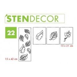 STENDECOR 22 - SERIE FOGLIE confezione 7pz