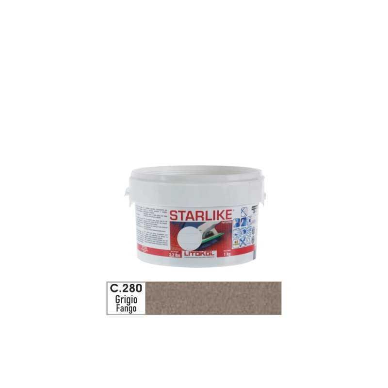 LITOKOL - STARLIKE® C.280 kg.1 Grigio Fango - a soli 19,00€ su FESEA online - fesea.shop