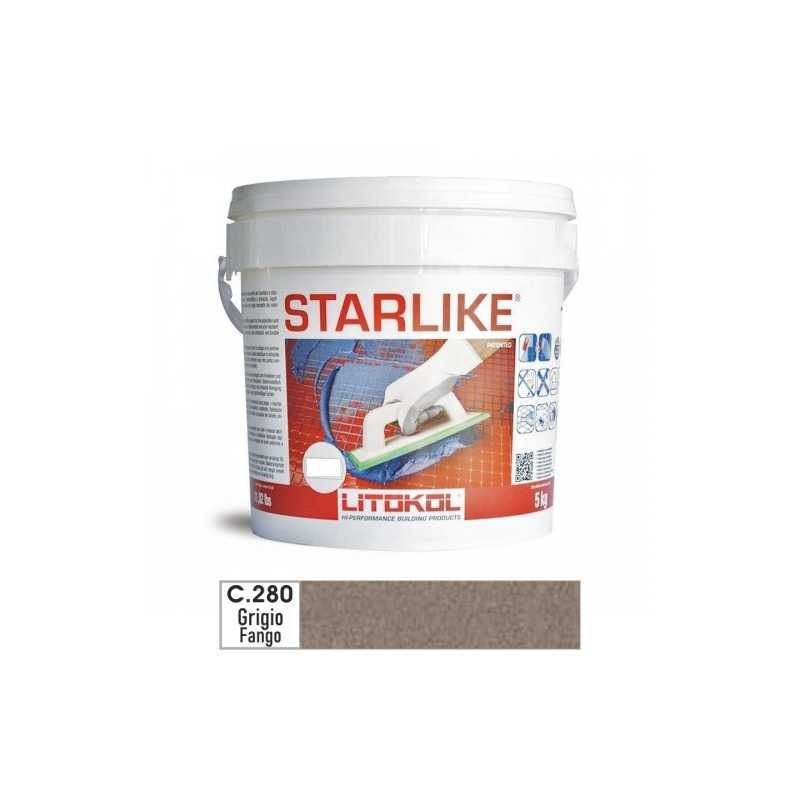 LITOKOL - STARLIKE® C.280 kg.5 Grigio Fango - a soli 57,00€ su FESEA online - fesea.shop
