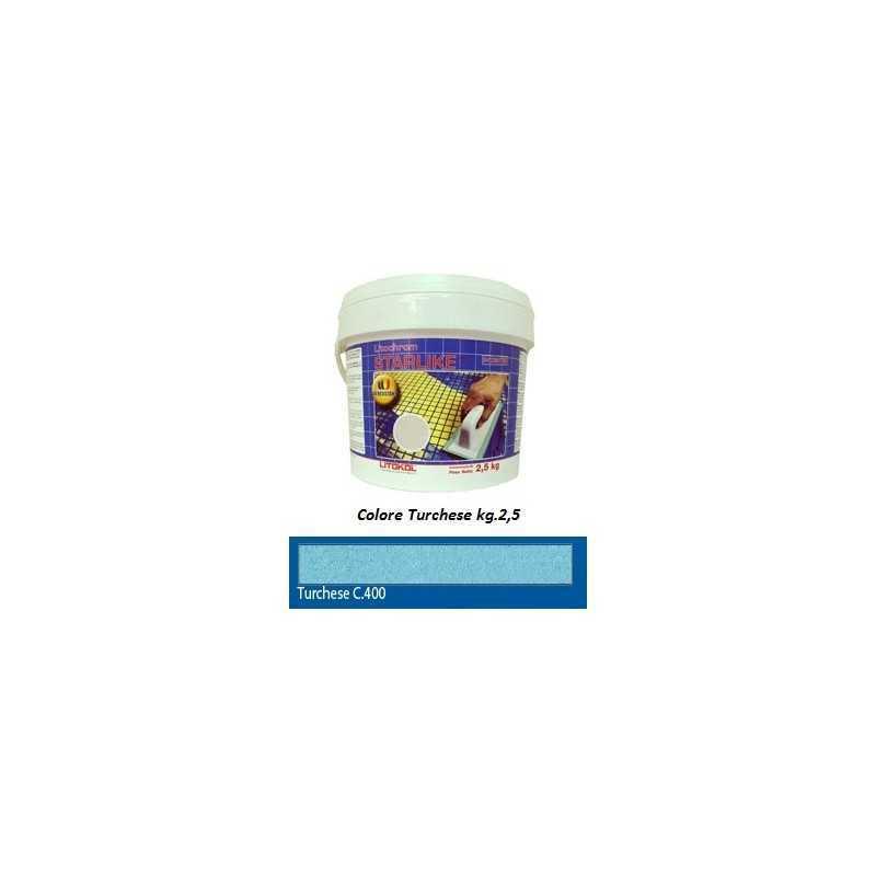 LITOKOL - STARLIKE® C.400 kg.2,5 Turchese - a soli 34,50€ su FESEA online - fesea.shop