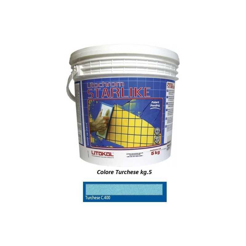 LITOKOL - STARLIKE® C.400 kg.5 Turchese - a soli 60,00€ su FESEA online - fesea.shop