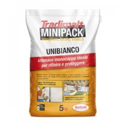UNIBIANCO  5kg Intonaco di sottofondo Bianco  MiniPack
