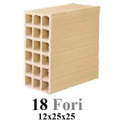 Mattone 18 Fori 12x25x25...