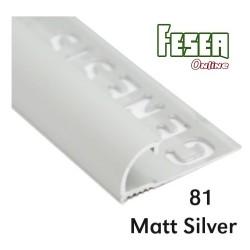 PROFILO Arrotondato in ALLUMINIO da 12mm – 250cm Colore: Alluminio Anodizzato (81)