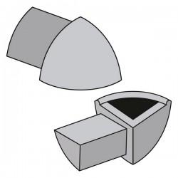 Angolo Esterno 06mm in PVC (16) NERO (singolo) per Profilo Profilo ETR.608.16