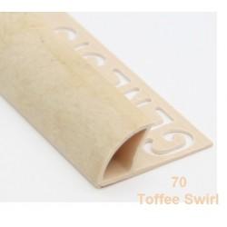 PROFILO in PVC ARROTONDATO 10mmColore:  BEIGE MARMO (70)Lunghezza MT: 2,50