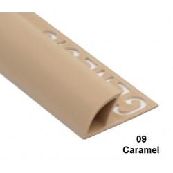 PROFILO in PVC ARROTONDATO 10mmColore:  CARAMEL (09)Lunghezza MT: 2,50