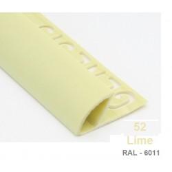 PROFILO in PVC ARROTONDATO 10mmColore:  LIME (52)Lunghezza MT: 2,50