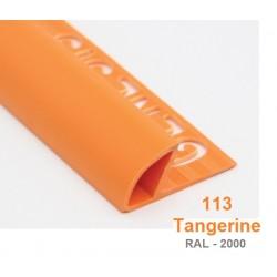 PROFILO in PVC ARROTONDATO 10mmColore:  MANDARINO (113)Lunghezza MT: 2,50