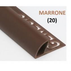 PROFILO in PVC ARROTONDATO 10mmColore:  MARRONE (20)Lunghezza MT: 2,50