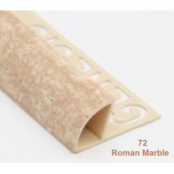PROFILO in PVC ARROTONDATO 10mmColore:  MARRONE GRANITO (72)Lunghezza MT: 2,50