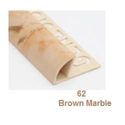 PROFILO in PVC ARROTONDATO 10mmColore:  MARRONE MARMO (62)Lunghezza MT: 2,50