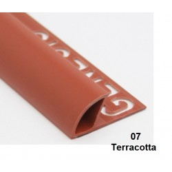 PROFILO in PVC ARROTONDATO 10mmColore:  TERRACOTTA (07)Lunghezza MT: 2,50