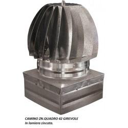 ASPIRATORE GIREVOLE ZINCATO Misura: cm 42x42 Attacco: QUADRO