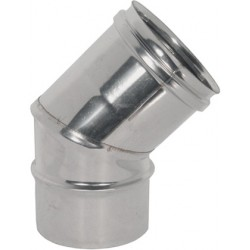 CURVA in ACCIAIO INOX AISI 304 Ø  80mm  a 45° (2 SETTORI) (PERFETTO)