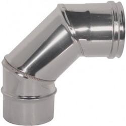 CURVA in ACCIAIO INOX AISI 304 Ø 130mm  a 90° (3 SETTORI) (PERFETTO)