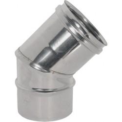 CURVA in ACCIAIO INOX AISI 304 Ø 200mm  a 45° (2 SETTORI) (PERFETTO)