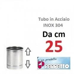 TUBO in ACCIAIO INOX AISI 304  Ø mm 140x 25 cm  (PERFETTO)