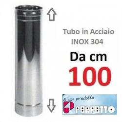 TUBO in ACCIAIO INOX AISI 304  Ø mm 300x100 cm  (PERFETTO)