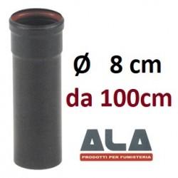 TUBO 2mm  Ø  80x 1000 AETERNUM Porcellanato (PELLET)